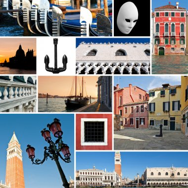 Collage of images of Venice, Italy