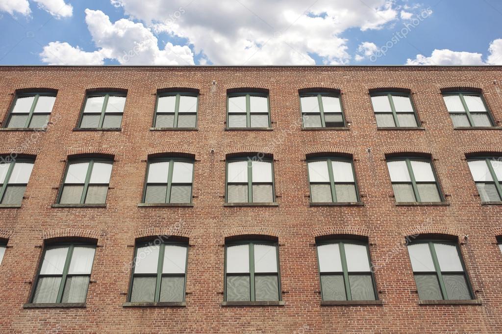 fa ade d 39 un immeuble ancien en briques rouges brooklyn new york photographie pio3 23084280. Black Bedroom Furniture Sets. Home Design Ideas