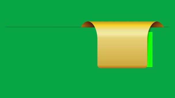 odhalující zelený proužek