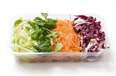 Salads food packed