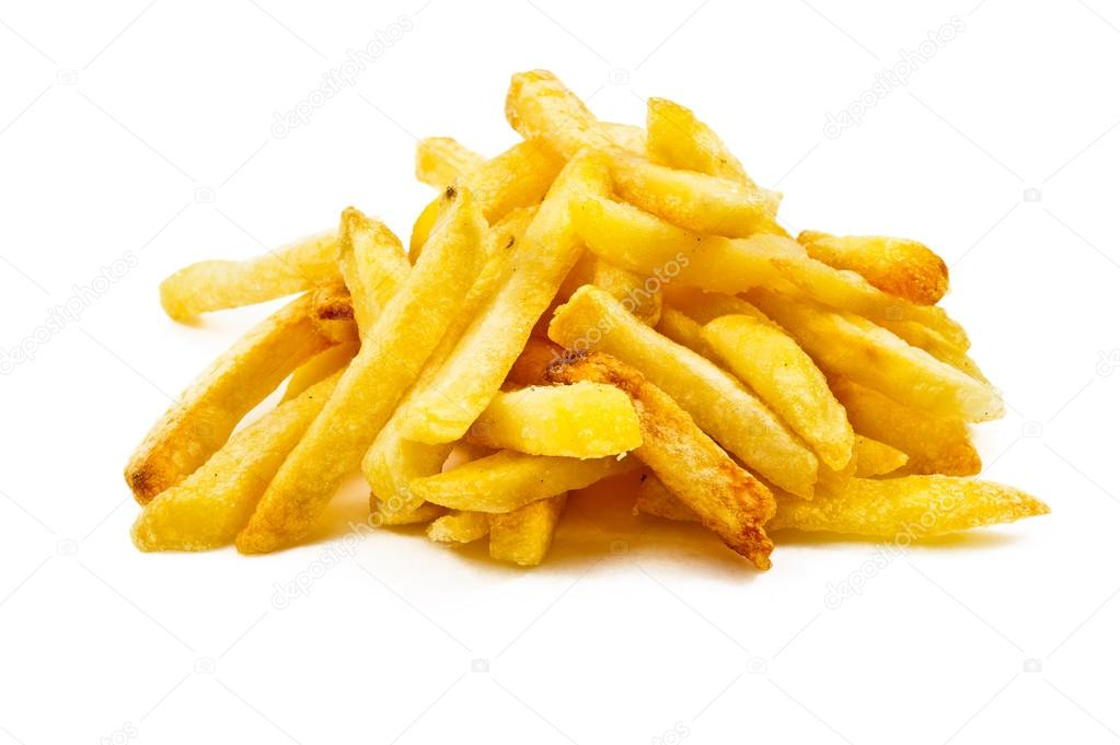 Potatoes fries isolated
