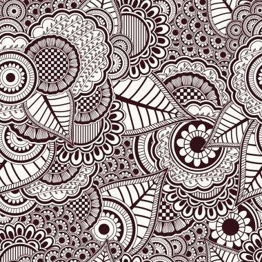 Mehandi seamless pattern