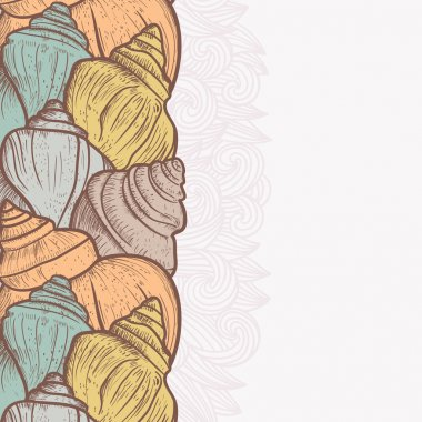 Background with shells