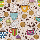 Fotografie Coffee seamless pattern