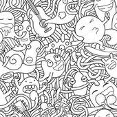 Fotografia seamless pattern di mostri