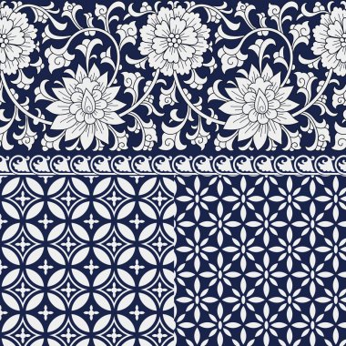 Seamless chinese ornaments and patterns