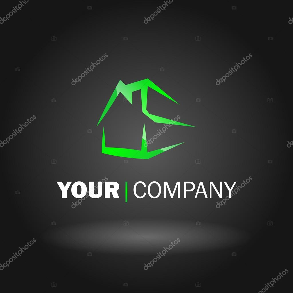 Vector illustration of a house logo type stock vector