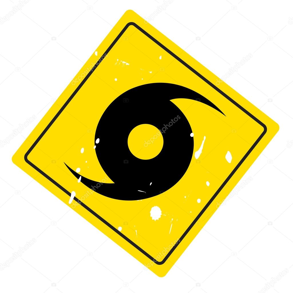 Hurricane Warning Sign Stock Vector Spirit Alex 18344249