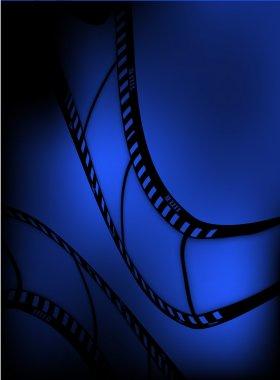 Vector film background. mesh. eps10