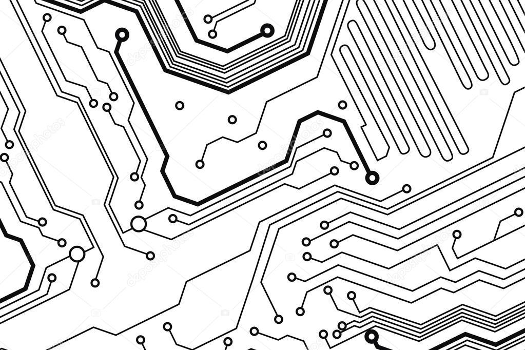 resumo de fundo vector tecnologia placa de circuito
