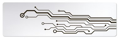 Techno circuit web banners. EPS10 vector illustration