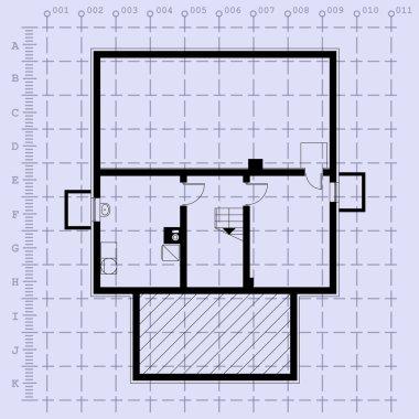 Home plan blueprint background. vector illustration