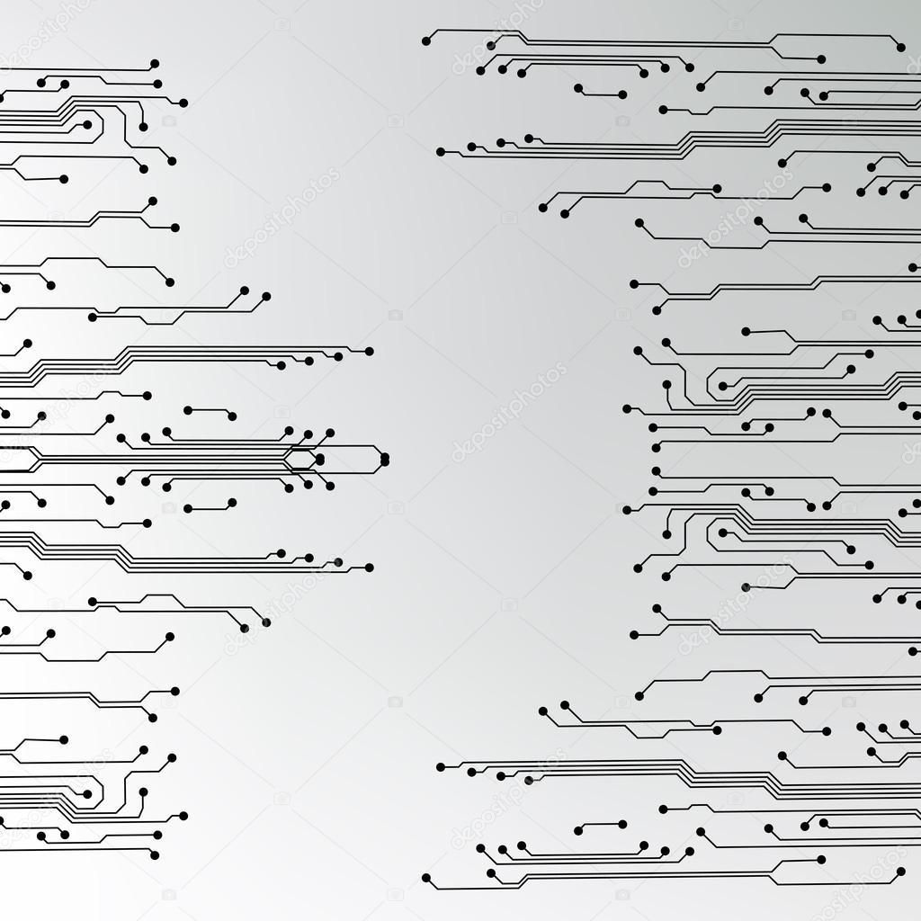 textura de fondo Eps10 vector de circuito — Archivo Imágenes ...