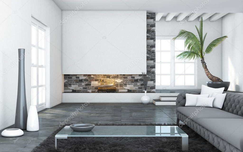 Moderne Woonkamer Fotos : Grote moderne woonkamer u stockfoto krooogle