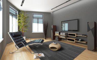 Media Room With A Stereo System