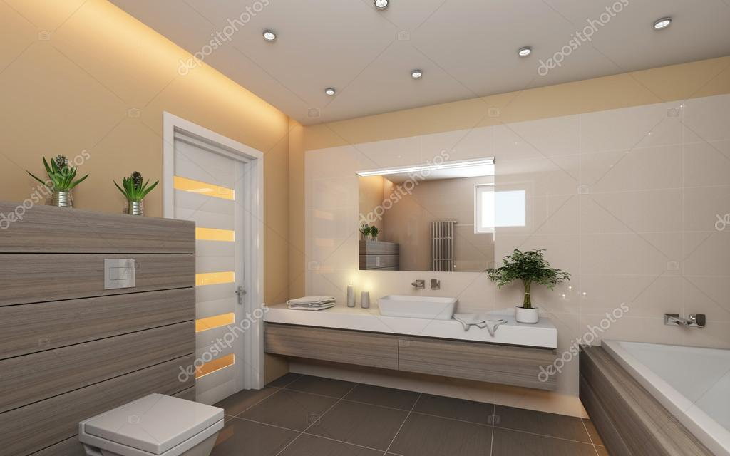 Helles Badezimmer Mit Grau Holz Stockfoto C Krooogle 24685611