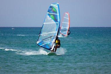 Windsurf at Prassonissi beach