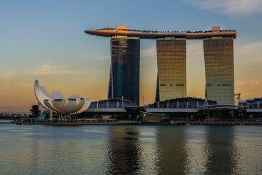 Sunset at Marina Bay Sands Hotel