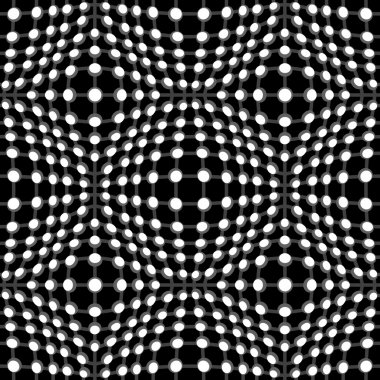 Abstract black and white seamless pattern, geometric background clip art vector