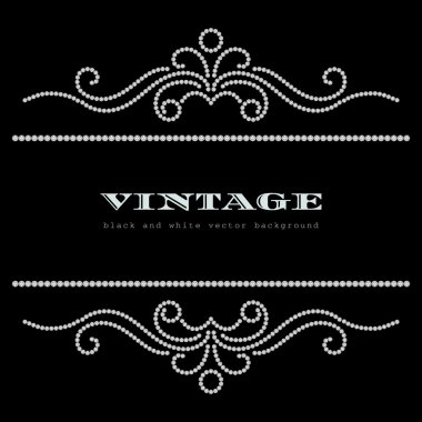 Vintage jewelry background