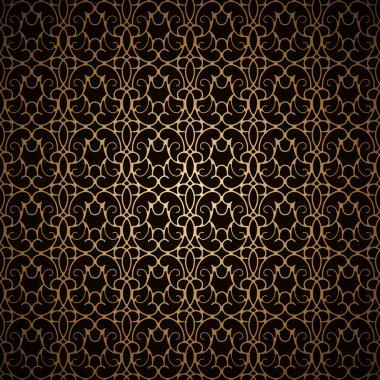 Black gold pattern