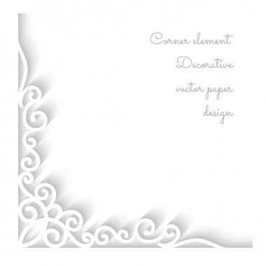 Paper corner ornament