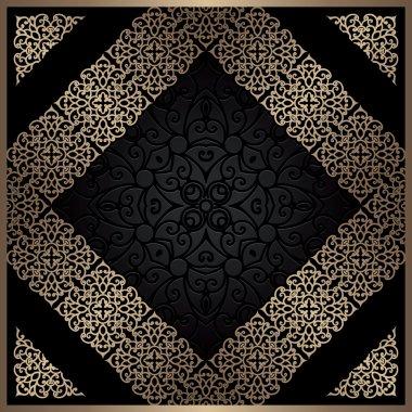 Gold diagonal frame