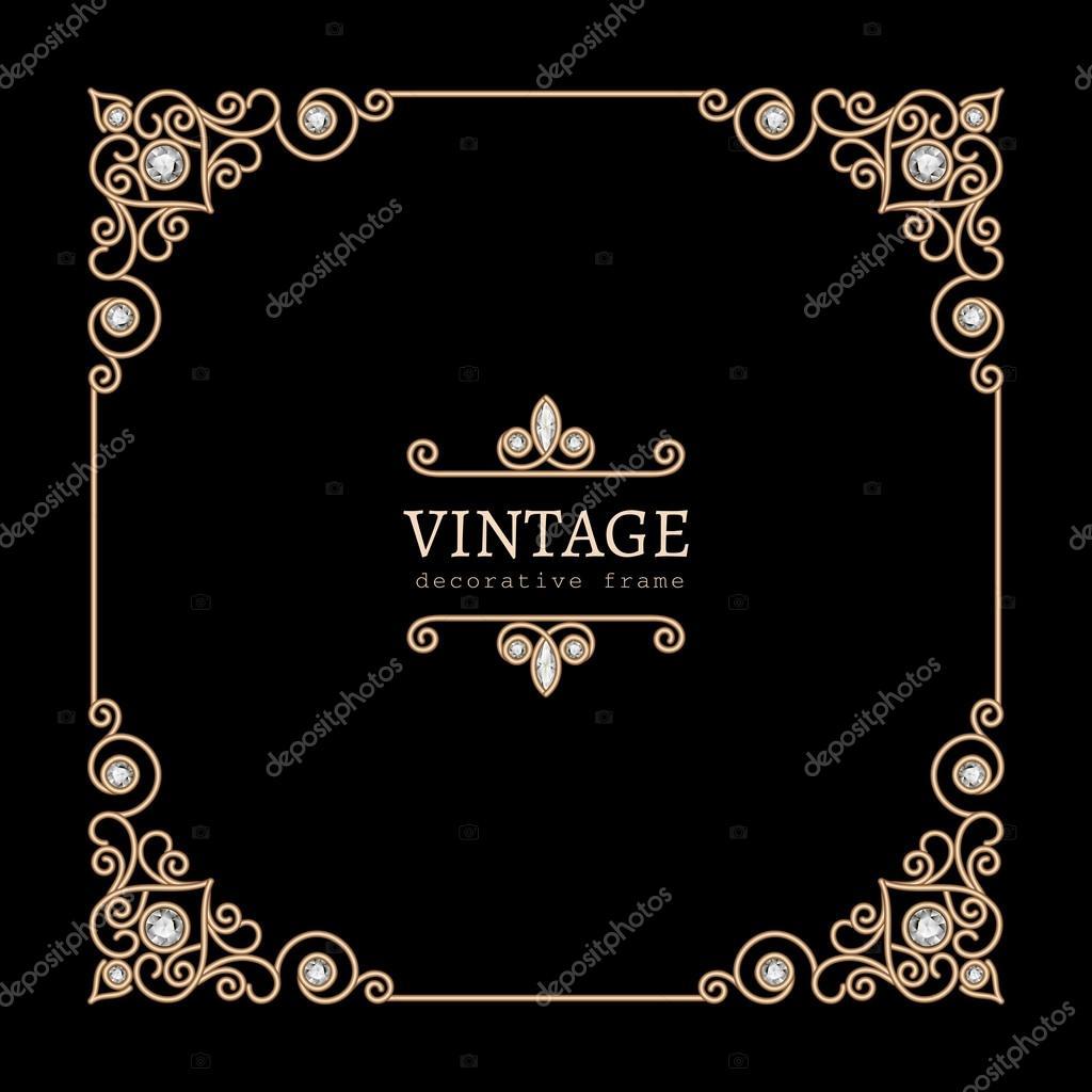 cadre bijoux carré or — image vectorielle magenta10 © #42311981