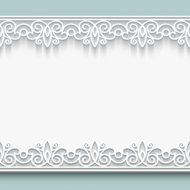 Paper lace background