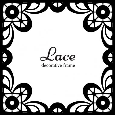 Square lace frame