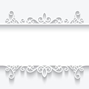 Cutout paper frame