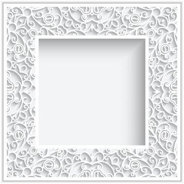 Square paper frame