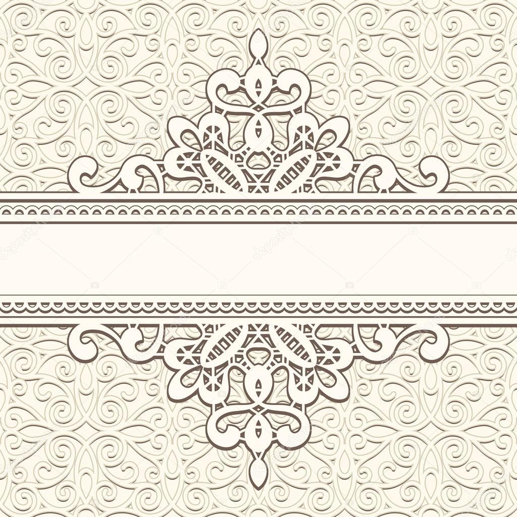 marco de encaje vintage — Archivo Imágenes Vectoriales © magenta10 ...