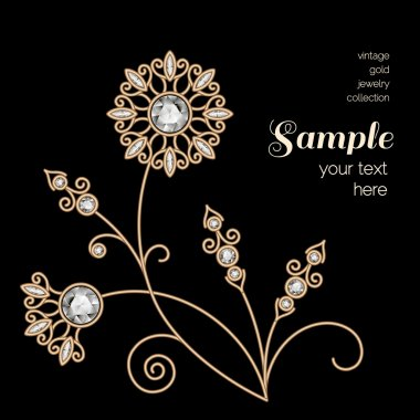 Gold jewelry flower decoration