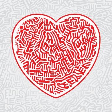 Labyrinth heart seamless