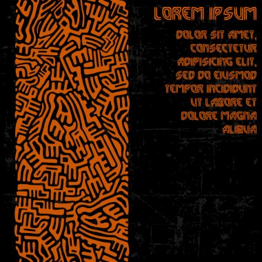 Abstract labyrinth border