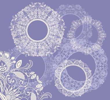 Round seamless lace set
