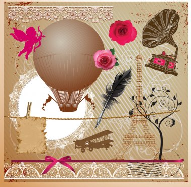 Vintage Collection - for design, scrapbook - in vector