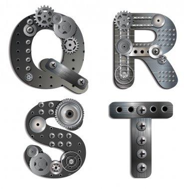 Vector mechanical alphabet of gears