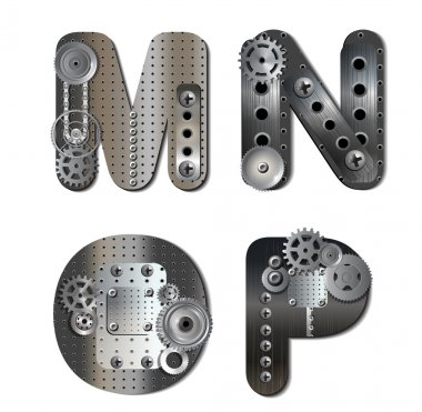 Vector mechanical alphabet of gears
