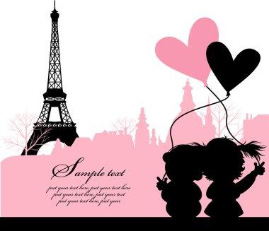 PARIS, FRANCE, LOVE VECTOR
