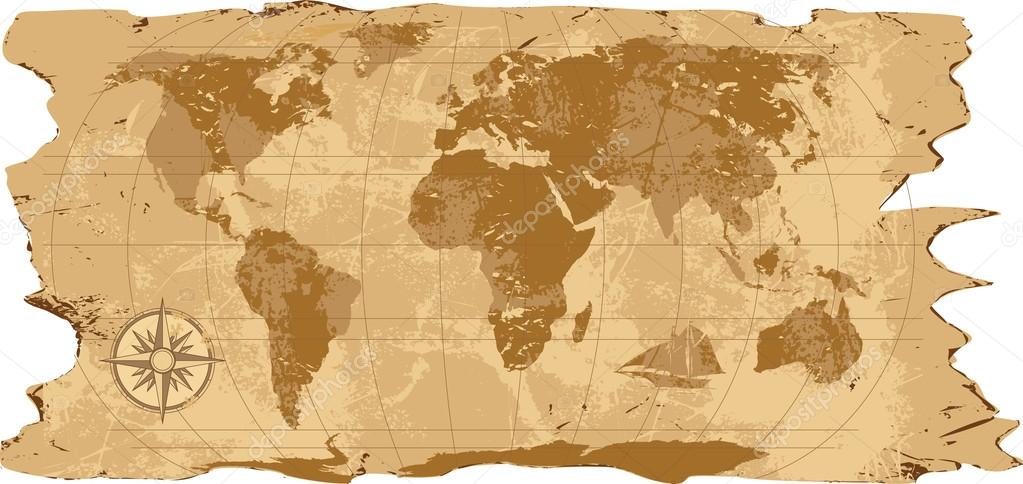 A grunge rustic world map stock vector mikosha 39904279 a grunge rustic world map stock vector gumiabroncs Image collections