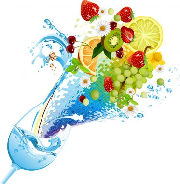 Water and fruits