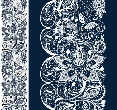 Blue lace background with flower
