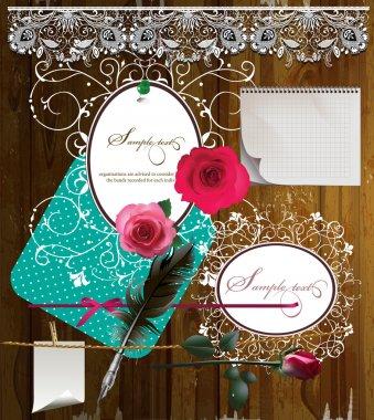 Valentine's Day scrapbook elements