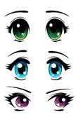 Anime stílusú szemek