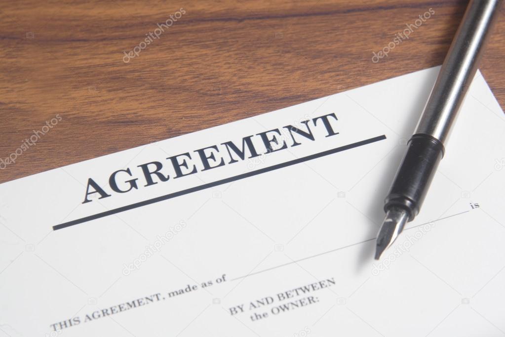 Vereinbarung Schreiben Stockfoto Stioss 40992853