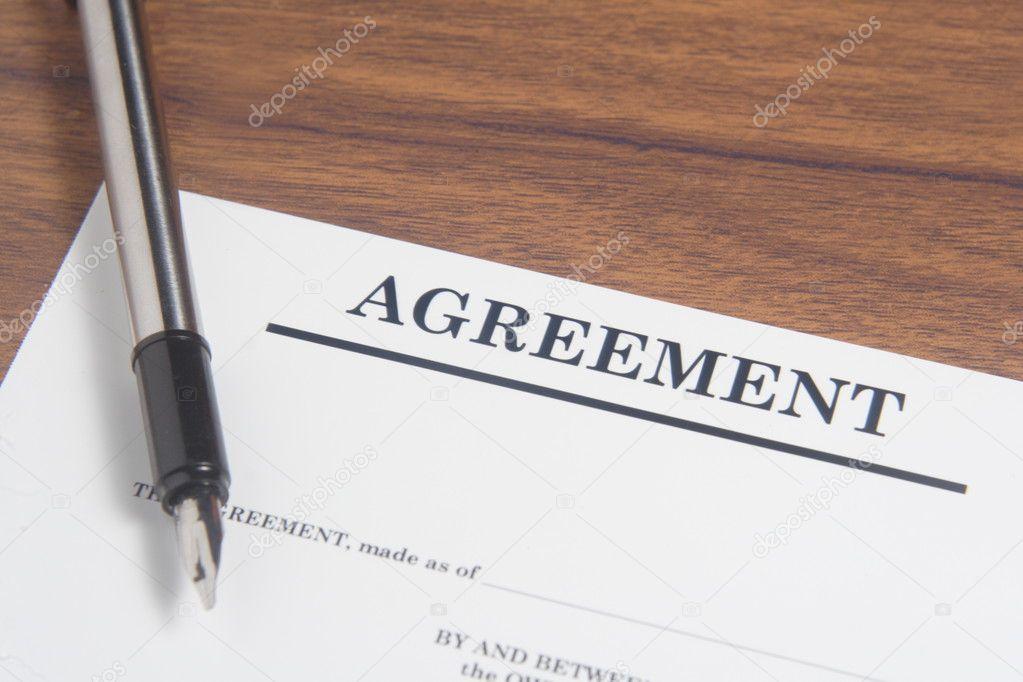 Vereinbarung Schreiben Stockfoto Stioss 40992923