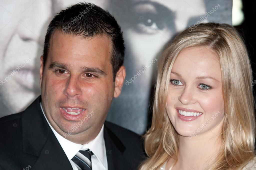 Randall Emmett and Actress Ambyr Childers attend the film ...