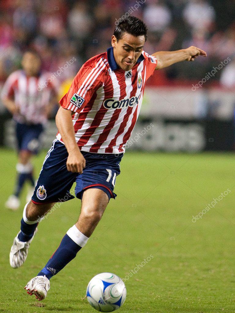 Jesus Padilla Dribbling Den Ball Feld Während Des Spiels